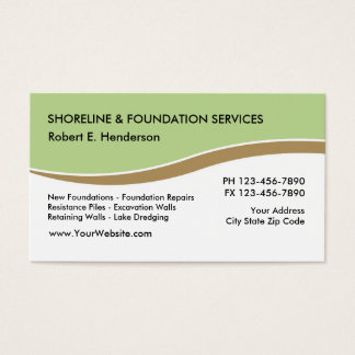 Servicios de la fundación tarjetas de visita