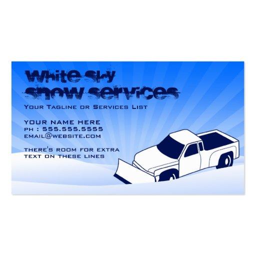 servicios de la nieve Y del césped Tarjetas De Visita