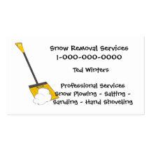 Servicios de la retirada de la nieve tarjetas personales