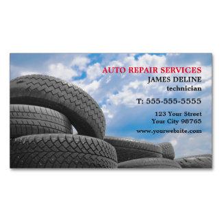 Servicios de reparación auto modernos tarjetas de visita magnéticas (paquete de 25)