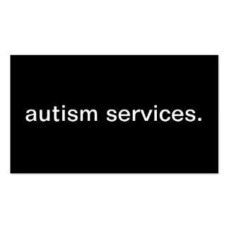 Servicios del autismo tarjetas de visita