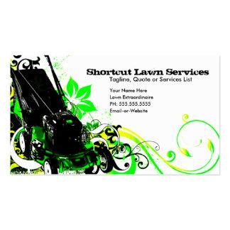 servicios del césped del verano tarjetas de negocios