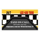 Servicios del conductor de taxi plantillas de tarjetas personales