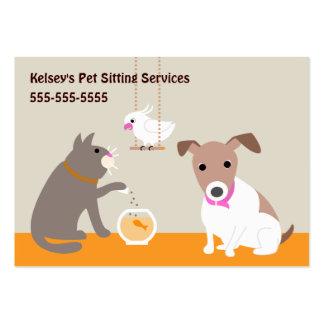Servicios del cuidado de animales de compañía tarjetas de visita grandes