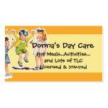Servicios del cuidado de día del ejemplo de los ni tarjetas personales