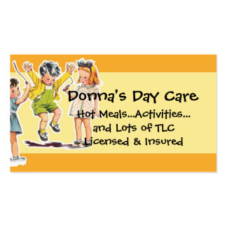 Servicios del cuidado de día del ejemplo de los tarjetas de visita