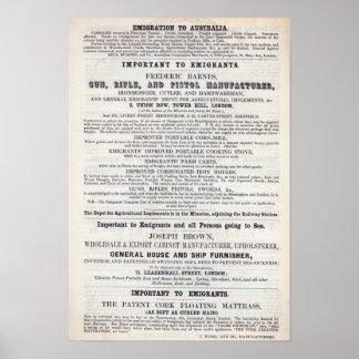 Servicios del emigrante de la publicidad de poster