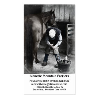 Servicios del herrador del caballo - ajuste y tarjetas de visita