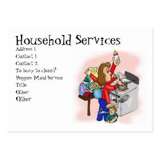 Servicios del hogar tarjetas de visita grandes
