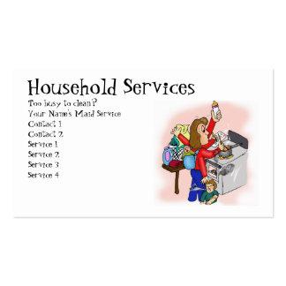 Servicios del hogar tarjetas de visita