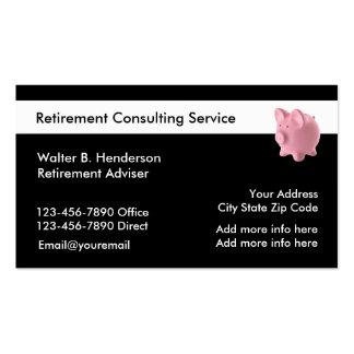 Servicios del retiro tarjetas de visita