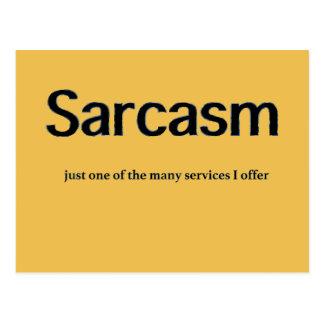 Servicios del sarcasmo tarjetas postales