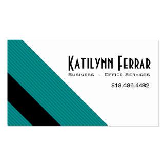 Servicios diagonales de la oficina de negocios de plantilla de tarjeta de visita