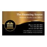 Servicios financieros con clase tarjetas de visita