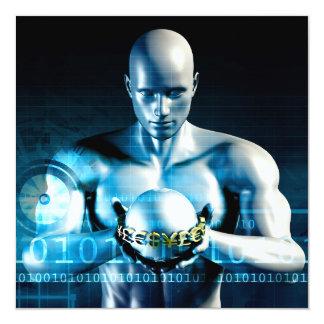 """Servicios financieros y software de la tecnología invitación 5.25"""" x 5.25"""""""