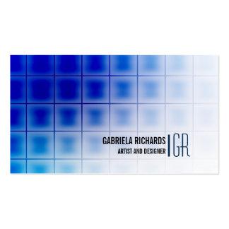 Servicios modernos y profesionales azules tarjetas de visita