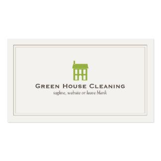 Servicios naturales de la limpieza del logotipo de tarjetas de visita