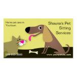 Servicios que se sientan del mascota del perro y d plantillas de tarjetas de visita