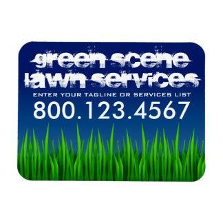 servicios verdes del césped de la escena imán foto rectangular