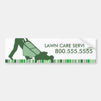 servicios verdes del cuidado del césped de la raya pegatina para auto