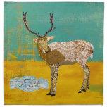 Servilleta adornada de los ciervos del trullo de o