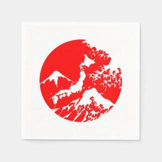 servilleta artística de la impresión roja del servilletas desechables