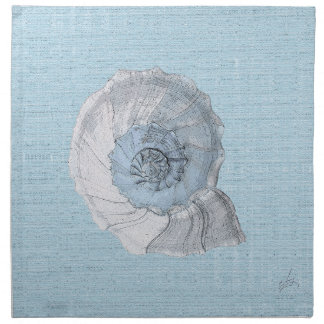 servilleta azul de la cáscara