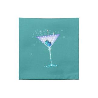 Servilleta azul de MoJo del americano de Martini