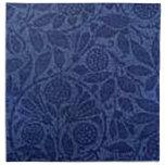 Servilleta azul floral del vintage retro