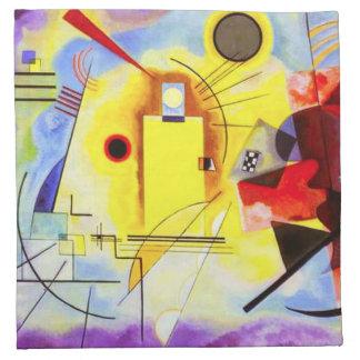 Servilleta azul roja amarilla de Kandinsky