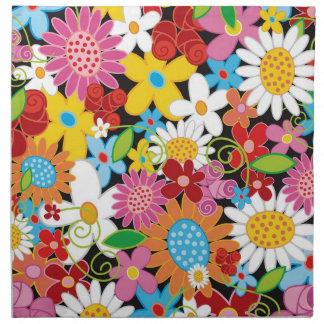 Servilleta caprichosa colorida del jardín de flore