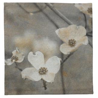 Servilleta clásica gris y beige de la impresión de