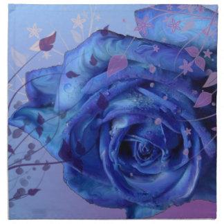 Servilleta color de rosa azul de MoJo del american