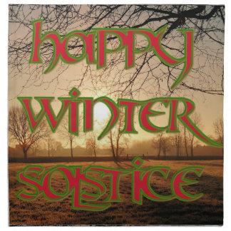 Servilleta de cena del solsticio de invierno