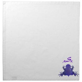 Servilleta de cuernos púrpura de MoJo de la rana
