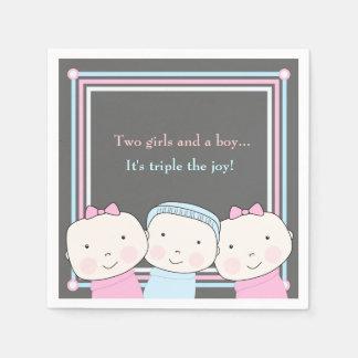 Servilleta de la alegría del bebé azul del rosa servilletas de papel