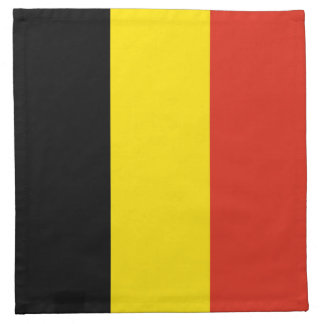 Servilleta de la bandera de Bélgica