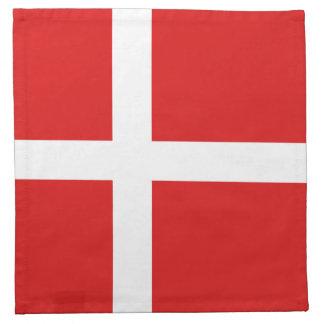 Servilleta de la bandera de Dinamarca