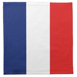 Servilleta de la bandera de Francia