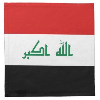 Servilleta de la bandera de Iraq