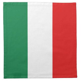 Servilleta de la bandera de Italia