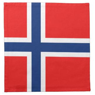 Servilleta de la bandera de Noruega