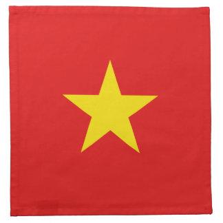 Servilleta de la bandera de Vietnam