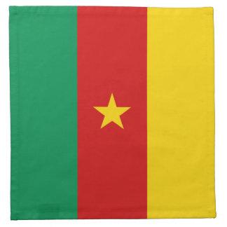 Servilleta de la bandera del Camerún