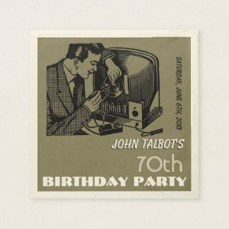 Servilleta de la fiesta de cumpleaños del servilletas de papel