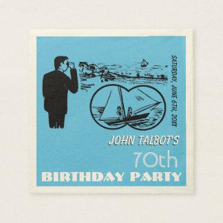 Servilleta de la fiesta de cumpleaños del velero servilletas desechables