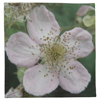 Servilleta de la macro de la flor de Blackberry