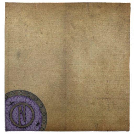 Servilleta de la porta N de Steampunk en lila