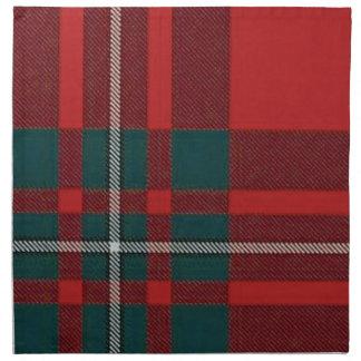 Servilleta de la tela escocesa de tartán de Gregor