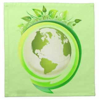Servilleta de la tierra verde